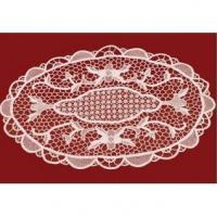 Wholesale White Cotton Embroidered Doily 01 from china suppliers