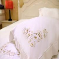 Bough embroidered bedding set