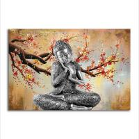 Wholesale Religion Wall Art Painting Buddha Canvas Art Print Poster from china suppliers