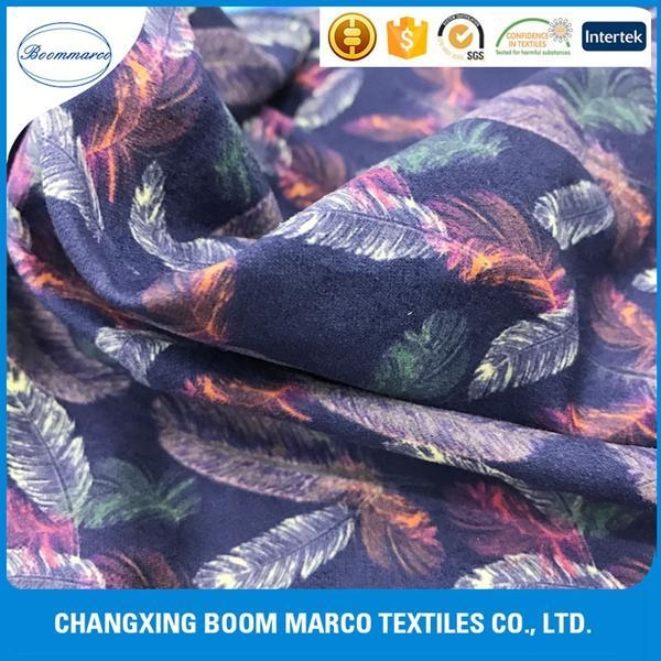 China Knitted Fabrics digital printed circle knittedmicro suede fabric