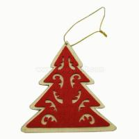 Wholesale Wood pine tree decorations coated with felt for Christmas ZCO1601 from china suppliers