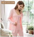 Quality Spring and autumn ladies knitting wool cashmere cardigan long-sleeved trousers three-piece for sale