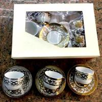 Buy cheap Electroplated Porcelain Cup and Saucer with Decal from wholesalers