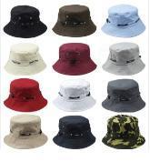 Wholesale Bucket Hat Flat Hunting Fishing Outdoor Summer Cap Unisex 100% Cotton from china suppliers