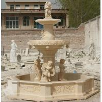 Wholesale Natural stone egypt beige marble outdoor garden water founta from china suppliers