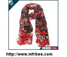 Quality floral print infinity scarf Beautiful Print Scarf for sale
