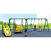 Buy cheap Commercial Playground Swings With Slide Chair for Sale from wholesalers