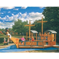 Buy cheap Wooden Ship Playhouse Theme Playground Equipment For Sale from wholesalers