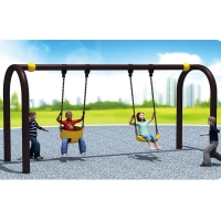 Buy cheap 2 Person Outdoor Garden Playground Equipment Kids Swing Set from wholesalers