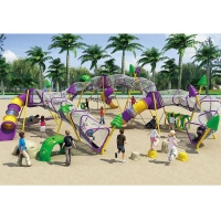 Buy cheap Kids Rope Nets Climbers With Slides Equipment Oem Odm from wholesalers