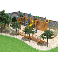 Buy cheap Climbing Wall Net Rope Slides Combination Playground Equipment from wholesalers