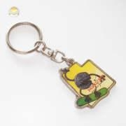 Wholesale Metal Key Holder with Glitter Print Pendant, Drop Pendant Key Chain with Glittering Powder from china suppliers
