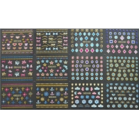 Wholesale BM001-024 3D gold nail sticker from china suppliers