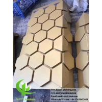 Buy cheap Metal cladding aluminium facades panel hexagon panels for exterior wall cladding from wholesalers
