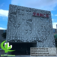 Buy cheap Metal cladding aluminium facades perforation PVDF 4mm thickness from wholesalers