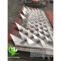 Buy cheap 3D panel alulminum Architectural metal facade material China supplier aluminum panels for facades from wholesalers