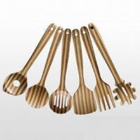 Wholesale 6-Piece Carbonized Bamboo Cooking Utensil Set from china suppliers