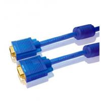 Transparent jacket 3+4 bare copper male to male VGA cable 1m