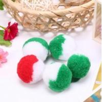 Buy cheap Mixed colored pom pom balls for garments fashion trend from wholesalers