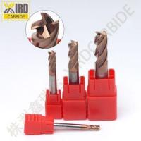 Buy cheap Solid carbide 4 flutes flattened end mills for HRC55 from wholesalers