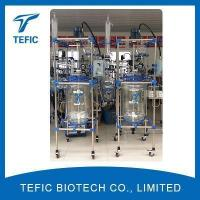 Buy cheap 100L Double Lined Glass Reactor With Distillation Column from wholesalers