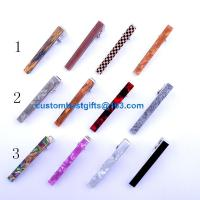 Wholesale 2.3cm 2.5cm 4cm 5.1cm 5.4cm brass tie bar with acrylic design from china suppliers