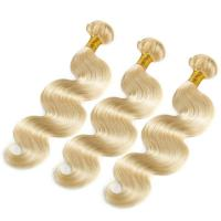 High Grade Silk Straight #613 Color Boby Wave Hair Weaves With Best Sell