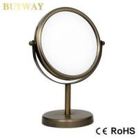 Wholesale double side Short Pillar Standing table magnification makeup mirror wholesale from china suppliers