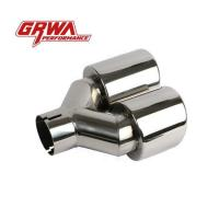 Wholesale Universal Double End Stainless Steel Car Exhaust Tip Muffler Pipe Tip Exhaust End Tip from china suppliers