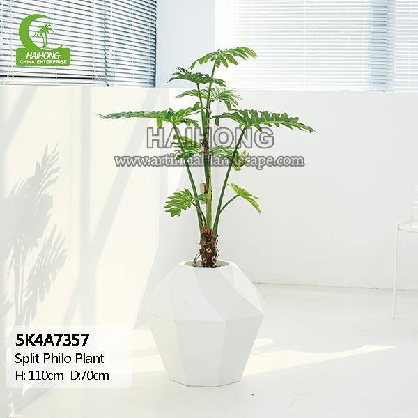 Quality Haihong Insights Artificial Plant Artificial Split Philodendron Plant for sale
