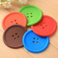 Wholesale silicone button shape cup mat, silicone rubber