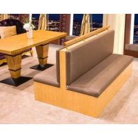 China Two Sides Booth Sofa For Restaurant Dining Furniture With Solid Wood Table on sale