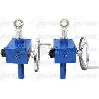 China Manual Operation Worm Drive Screw Jack Cubic Design on sale