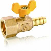 JKL06239 Brass Gas Stove with butterfly handle oil and gas control Ball Valve