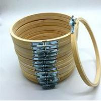 China 10 inch Bamboo Material and Carved Technique embroidery hoop on sale