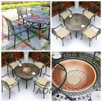 cast alu.chair and table Cast Aluminium Garden Furniture With Fire Pit
