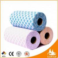 China Multi-purpose plum flower patterncleaning disposable non woven wipes on sale