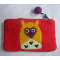 Wholesale Handmade Felt Products Owl design felt purse from china suppliers
