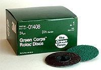 Buy cheap grinding 3M Green Corps Roloc Discs (24 Grit - 3in) from wholesalers