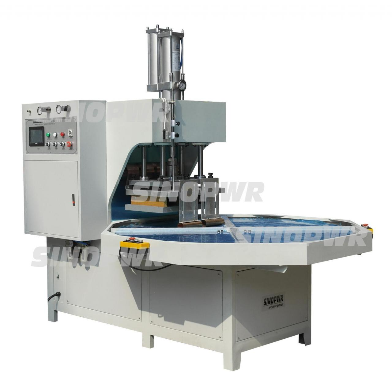 Wholesale Turntable pvc soft crease box HF welding making machine from china suppliers
