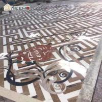 Wholesale Stone pattern flower floor design tile waterjet marble from china suppliers