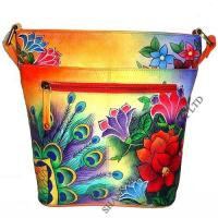 Wholesale Leather Hand Painted Bucket Bag from china suppliers